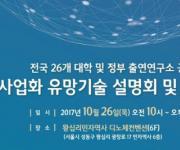 대학 및 정부출연 공동 사업화 유망기술 설명회·상담회 개최