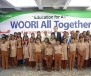 우리은행, 인도 소외계층 학교에 기부금 후원