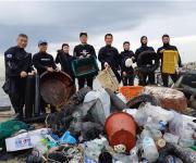 포스코 클린오션봉사단, 포항 해안서 플라스틱쓰레기 수거