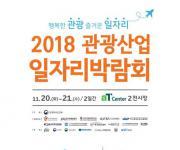'2018 관광산업 일자리박람회' 20∼21일 양재동 aT센터서 개최