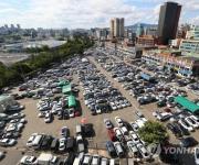 서울 장안동 중고차 시장
