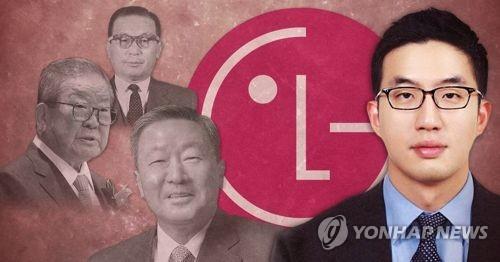 LG그룹 구본무 회장 별세,  후계자 구광모 LG전자 상무·LG가(家)의 경영권 '장자 상속'  (PG)