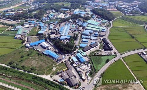 양주시 남면 일대 소공인 집적지구[연합뉴스 자료사진]