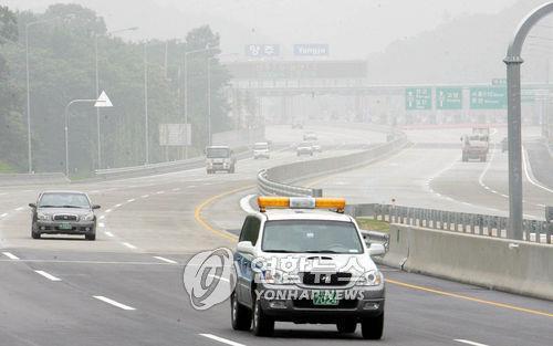 서울외곽순환고속도로 북부구간 개통 당시 모습