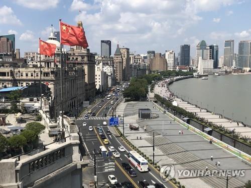 중국의 금융기관들이 모여 있는 상하이 황푸강 일대