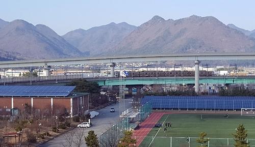 부산교통공사 대저차량기지 태양광 발전소 [부산교통공사 제공=연합뉴스]