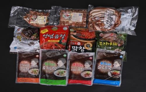 한우·돼지 부산물 수출품 [전북도 제공=연합뉴스]