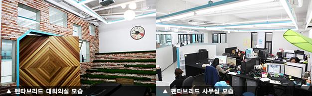 펜타브리드 대회의실, 사무실 모습