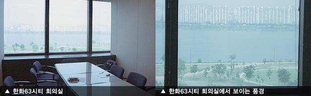 한화63시티 회의실, 한화63시티 회의실에서 보이는 풍경