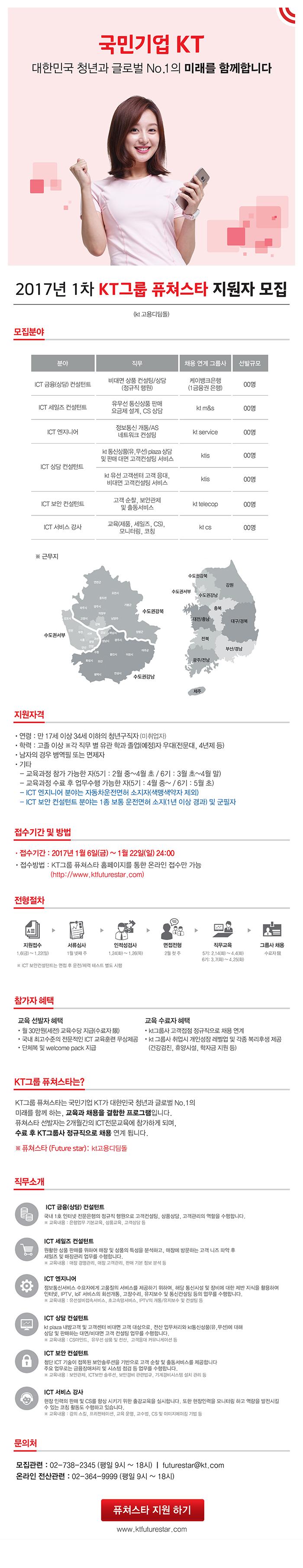 2017 1차 KT그룹 퓨쳐스타 지원자 모집