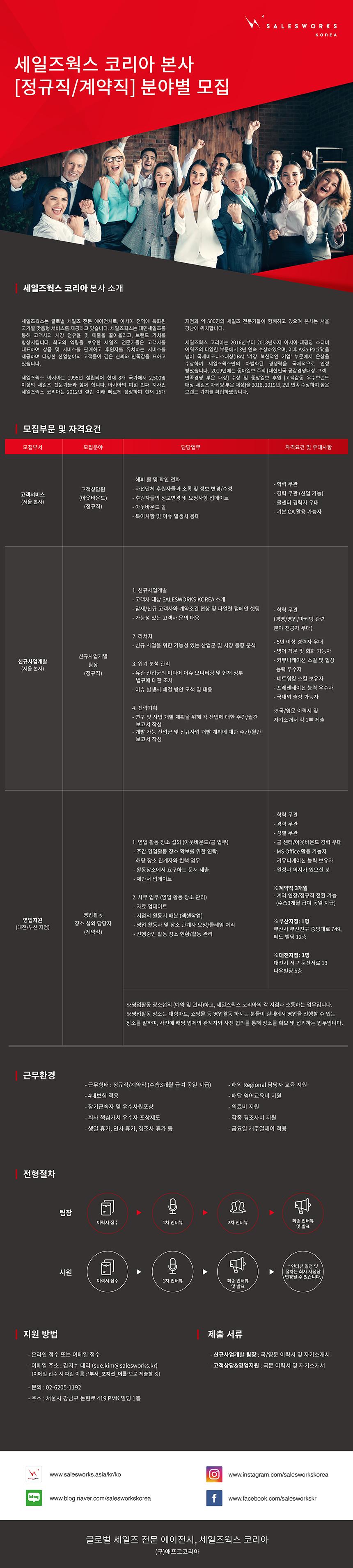 [외국계/본사] 부문별 담당자 채용