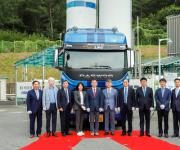 가스공사, 타타대우와 개발한 LNG화물차 시범운행