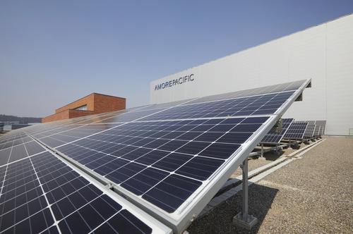 아모레퍼시픽 오산 뷰티파크 태양광 패널