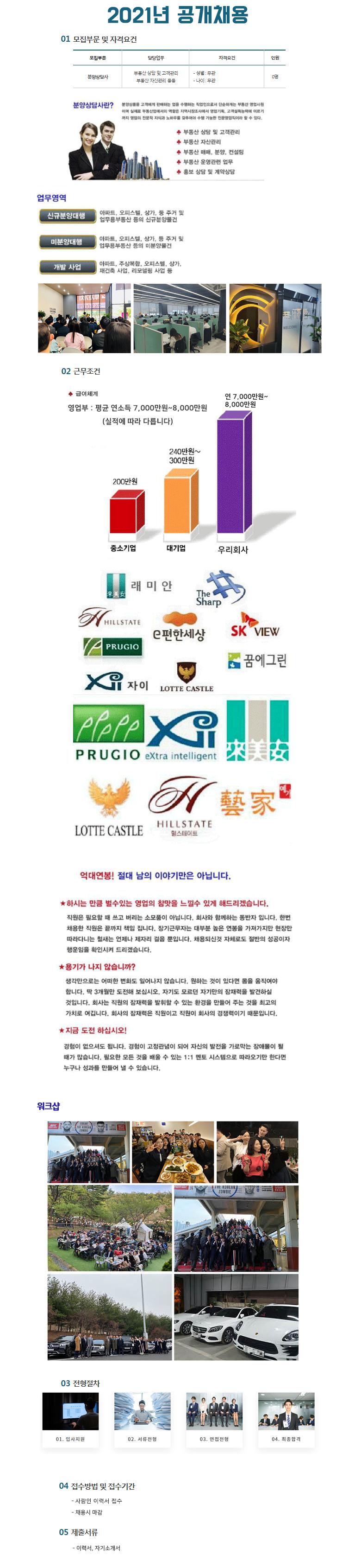대구/경북 최대규모 모델하우스 부동산 남.여 채용