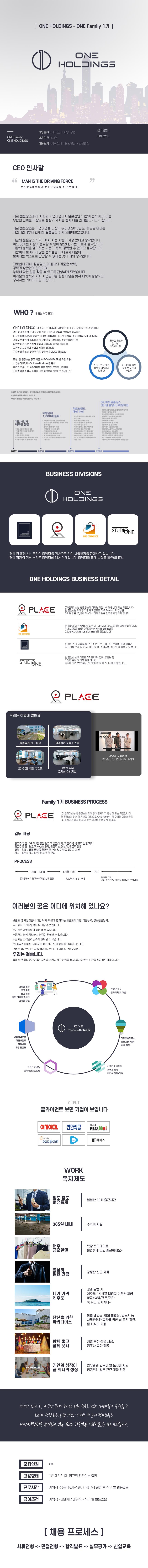 ㈜플레이스광고영업(광고영업, 온라인광고外 2개 부문) 채용