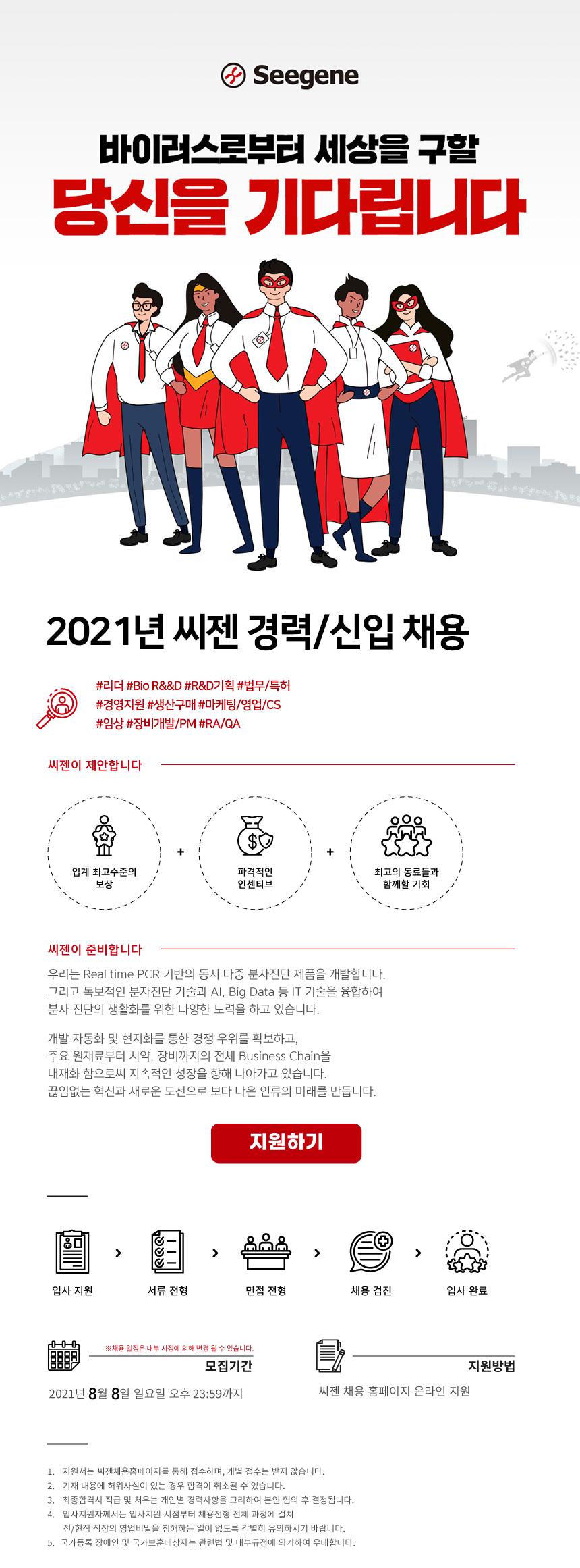 2021년 씨젠 경력/신입 채용